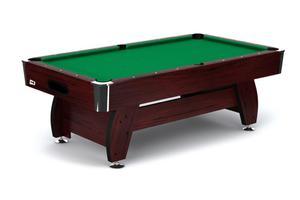 Stół bilardowy spływowy VIP Extra 7 ft wiśniowo - zielony Spensers - wiśnia - zielony - 2858111079