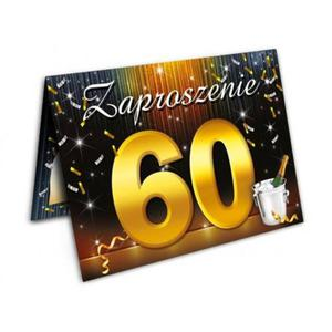 Zaproszenie urodzinowe - 60 - sześćdziesiątka - 1 szt. - 2858117870