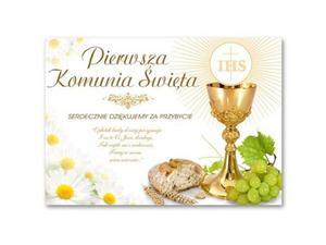 Plakat komunijny - I Komunia Święta IHS - 68 x 48 cm - 1 szt. - 2869831816