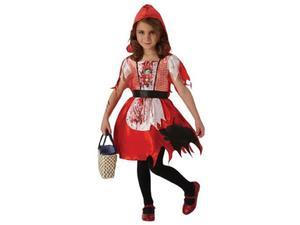 Kostium Zakrwawiony Czerwony Kapturek dla dziewczynki - Roz. L - 2856678333