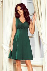 ce3af45967 238-2 BETTY rozkloszowana sukienka z dekoltem - ZIELEŃ BUTELKOWA Numoco