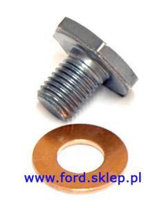 korek miski olejowej z uszczelką Ford - 1.4 TDCI 1.5 TDCI 1.6 TDCI - 2876566599