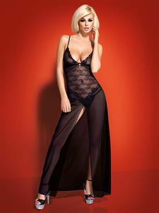 Obsessive Charms gown - długa koszulka z biżuterią - Koszulka długa - 2825394156