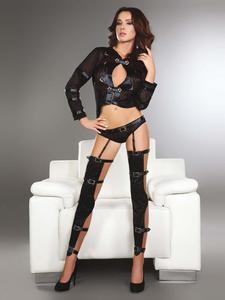 Livia Corsetti Erna - punkowy strój z pasem do pończoch - 2825394441