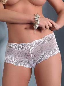 Livia Corsetti Carlina szorty - siateczkowe szorty z koronką w kolorze białym - biały - 2825394840