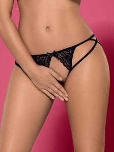 OBSESSIVE Picantina otwarte stringi czarne - odważne i kuszące - 2857316886