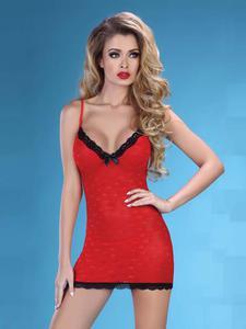 Livia Corsetti Hot Love koszulka i stringi - czerwona koszulka z motywem uroczych serduszek - 2834661917