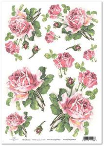 Papier ryżowy ITD R425 Róże różowe do wazonu - gotowe III - 2852677127