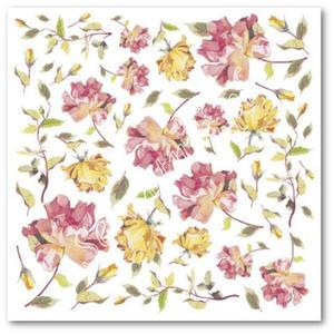 Serwetka ryżowa Stamperia DFT 167 Róże herbaciane - jak piękne motyle - 2850354245