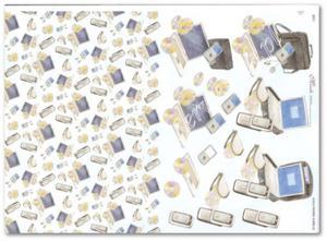 Papier do decoupage 3D Mireille E651 Telefony, telefony, laptopy i cd - 2850354812