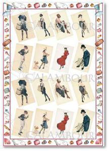 Papier do decoupage Calambour EASY 208 Kobiety modne w stylu retro - 2850355007