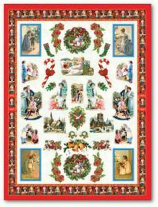 Papier do decoupage Celina 059 Boże Narodzenie - Victorian scene - 2850355045