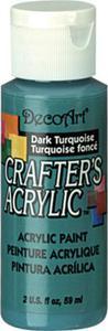 Farba akrylowa Crafter's Acrylic Dark Turquoise ciemy turkus 59ml DCA43 - 2850355346