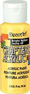 Farba akrylowa Crafter's Acrylic Bright Yellow słoneczny żółty 59ml DCA49 - 2850355349