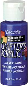 Farba akrylowa Crafter's Acrylic Peacock Blue niebieski paw 59ml DCA80 - 2850355355