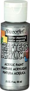 Farba akrylowa Crafter's Acrylic Silver Morning metalic srebrna 59ml DCA95 - 2850355357