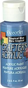Farba akrylowa Crafter's Acrylic Tropical Blue błękit tropiku 59ml DCA102 - 2850355363