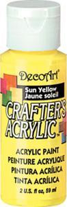 Farba akrylowa Crafter's Acrylic Sun Yellow słoneczny żółty 59ml DCA113 - 2850355368