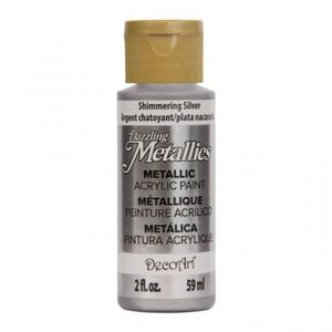Farba metaliczna Dazzling Metallics Shimmering Silver 59ml DA070 - 2850355403