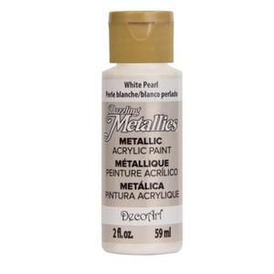 Farba metaliczna Dazzling Metallics White Pearl 59ml DA117 - 2850355409
