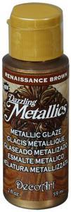 Farba metaliczna Dazzling Metallics Glaze Renaissance Brown 59ml DGM01 - 2850355429