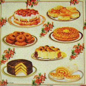 Torty, ciasta i ciasteczka IHR serwetka do decoupage - 2850353262