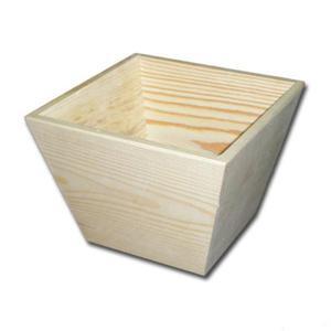 Osłonka drewniana na doniczkę kwadratowa duża P0674C - 2850356264