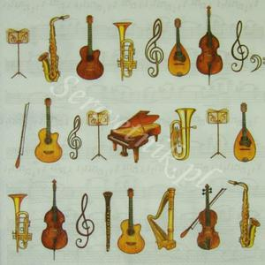Serwetka do decoupage 2531 Instrumenty muzyczne IHR - 2850353359
