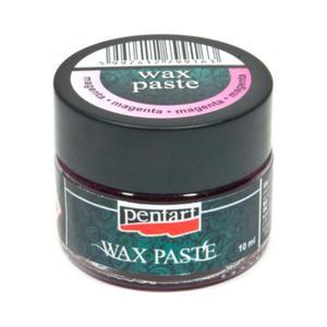 Pasta woskowa metaliczna Pentart Wax paste metallic magenta 20ml - 2850356790