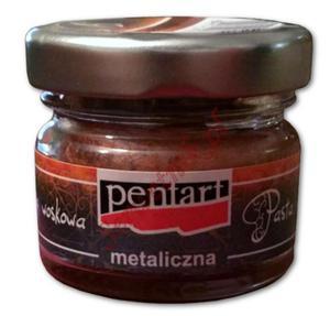 Pasta woskowa metaliczna Pentart Wax paste metal miedziany 20ml - 2850356793