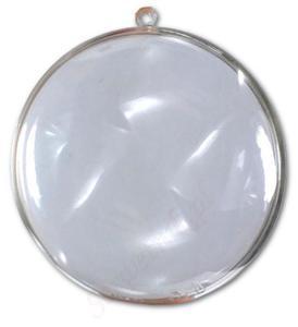 Bombka akrylowa transparentna MEDALION 110mm plastikowa p - 2850356973