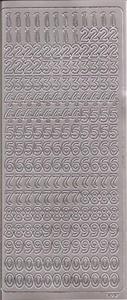 Naklejka Peel-Off A1632s Cyfry arabskie 0-9 srebrny - 2850357193