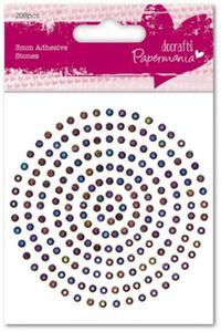 Kryształki samoprzylepne Papermania Adhesives stones iridescent 206szt. 3mm PMA 351606 - 2850357384
