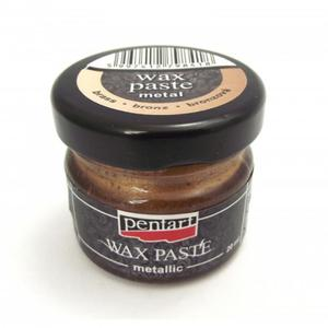 Pasta woskowa metaliczna Pentart Wax paste metal bronz 20ml - 2850358148