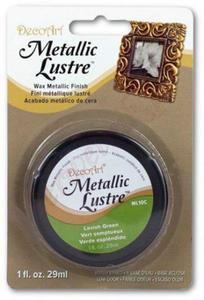 Metaliczna pasta woskowa Decoart Metallic Lustre lavish green 29ml - 2853334171
