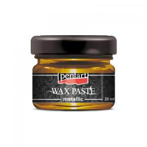 Pasta woskowa metaliczna Pentart Wax paste metalic ZŁOTO MIODOWE 20ml