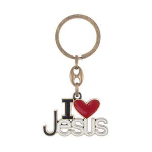 Brelok z napisem I love Jesus - 2853736115