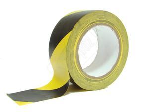 Taśma samoprzylepna czarno-żółta 5 cm / 33 mb - 2827617462