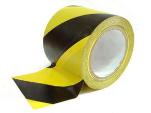 Taśma samoprzylepna czarno-żółta 10 cm/33 mb - 2827617463