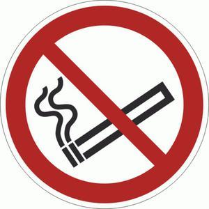 P002-F Znak PODŁOGOWY Zakaz palenia ISO7010  - 2878095489