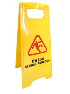Potykacz ostrzegawczy UWAGA ŚLISKO! - 2827617812
