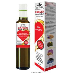 Mikstura Olei CARDIO Dr Gaja olej lniany, z wiesiołka, z czarnuszki, z ostropestu, suplement diety 250 ml - 2853143117
