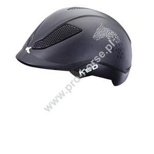 Kask do jazdy konnej, jak i na rowerze KED Pina Script czarny matowy - 2860928495