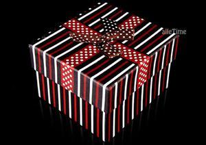 d9d0e79ff7436c Pudełko paski brązowe - 2470610084