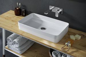 Excellent Cori 61 umywalka ceramiczna nablatowa 61x34,5x11 cm CEAC.3301.610.WH - 2873145580