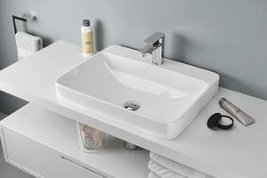 Excellent Holmi 59 umywalka ceramiczna wpuszczana w blat 59x47x17 cm CEAC.3201.590.WH - 2873145584