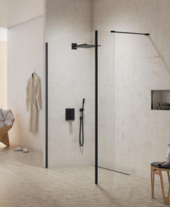 New trendy New Modus Black ścianka prysznicowa Walk In 90x70 cm EXK-0065+EXK-0090 - 2880650304